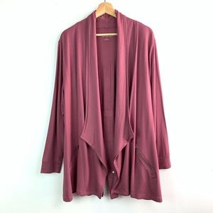 Soft Surroundings• Drape front cardi w/zip pockets